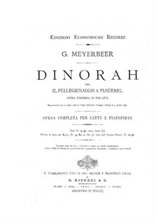 Dinorah (The Pardon of Ploërmel): abertura by Giacomo Meyerbeer