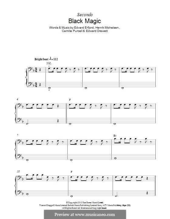 Black Magic (Little Mix): Para Piano by Ed Drewett, Edvard Erfjord, Henrik Michelsen, Camille Purcell