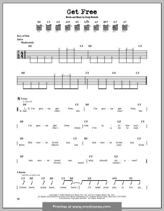 Get Free (The Vines): Para guitarra com guia by Craig Nicholls
