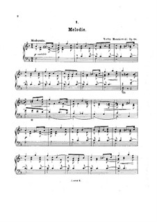 Five Pieces for Piano, Op.18: set completo by Moritz Moszkowski