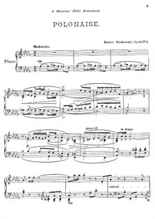Two Pieces for Piano , Op.45: set completo by Moritz Moszkowski