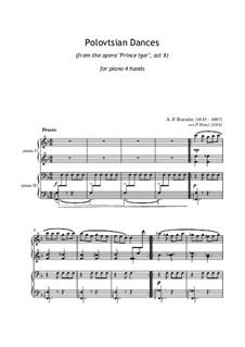 Polovtsian Dances: para piano de quadro mãos by Alexander Borodin
