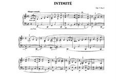 Dix pièces mignonnes (Ten Small Pieces), Op.77: No.5 Intimité by Moritz Moszkowski