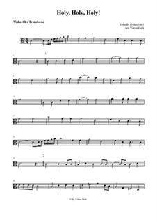 Holy, Holy, Holy! Lord God Almighty: Para viola e órgão by John Bacchus Dykes