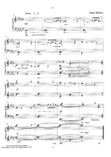 Trois Monochromes: Nr.2 for piano by Hans Bakker