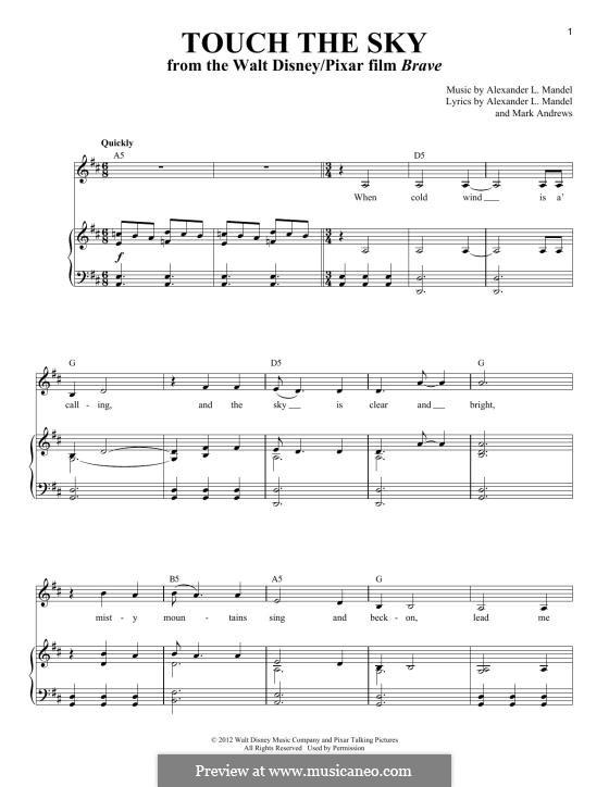 Touch the Sky (Julie Fowlis): Para vocais e piano by Alexander L. Mandel