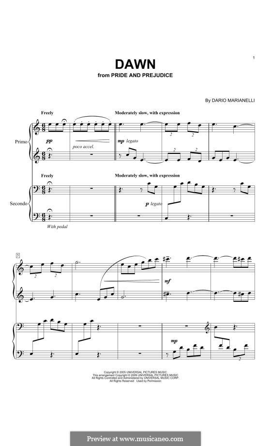 Dawn: Para Piano by Dario Marianelli