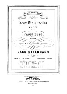 Duos for Two Cellos, Op.52: Duo No.1 – parts by Jacques Offenbach