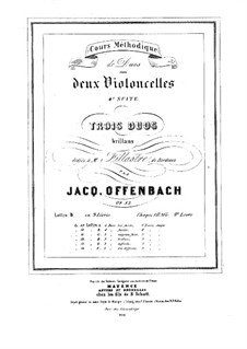 Duos for Two Cellos, Op.52: Duo No.2 – parts by Jacques Offenbach