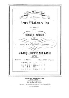 Duos for Two Cellos, Op.52: Duo No.3 – parts by Jacques Offenbach