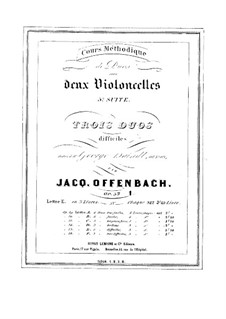 Duos for Two Cellos, Op.53: Duo No.1 – parts by Jacques Offenbach