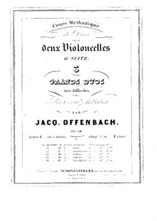 Duos for Two Cellos, Op.54: Duo No.1 – parts by Jacques Offenbach