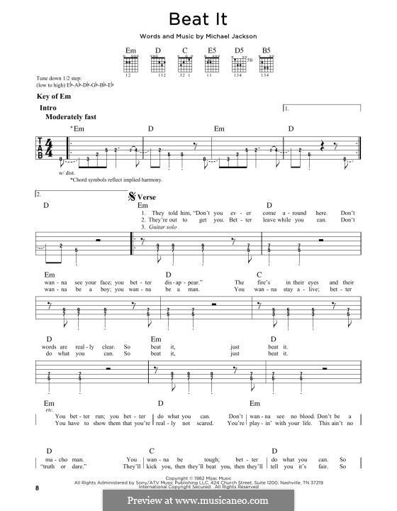Beat It: Para Guitarra by Michael Jackson