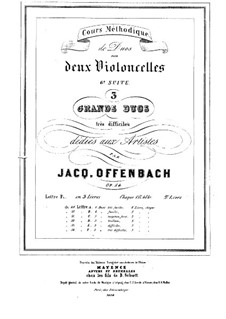 Duos for Two Cellos, Op.54: Duo No.2 – parts by Jacques Offenbach