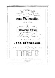 Duos for Two Cellos, Op.54: Duo No.3 – parts by Jacques Offenbach