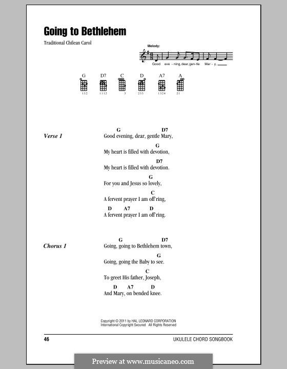 Going to Bethlehem: para ukulele by folklore
