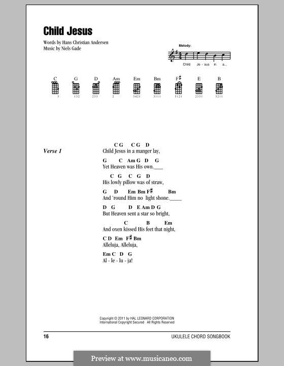 Child Jesus: para ukulele by Niels Wilhelm Gade