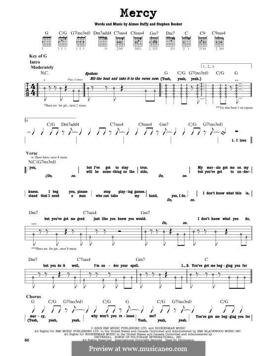 Mercy (Duffy): Para Guitarra by Aimee Duffy, Steve Booker