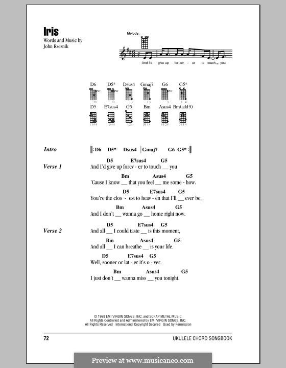 Iris (Goo Goo Dolls): para ukulele by John Rzeznik