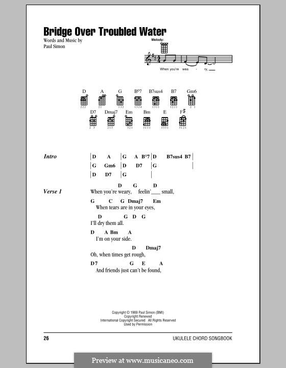 Bridge Over Troubled Water: para ukulele by Paul Simon