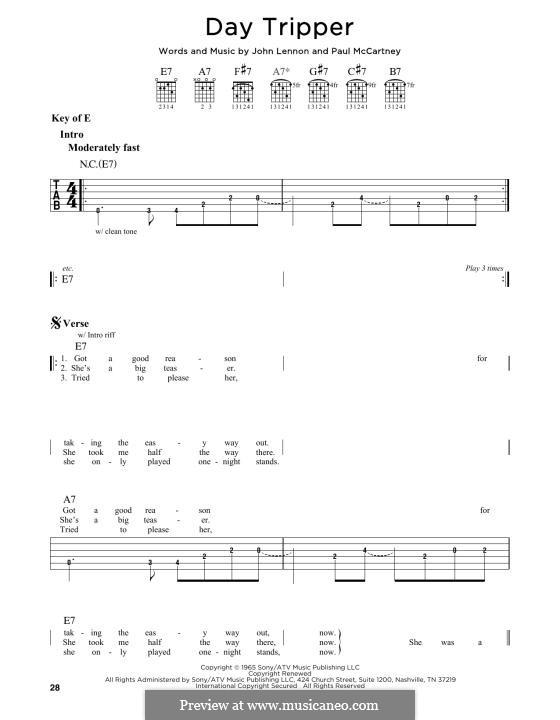 Day Tripper (The Beatles): Para Guitarra by John Lennon, Paul McCartney