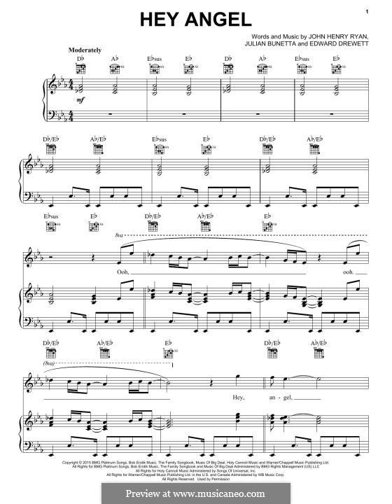 Hey Angel (One Direction): Para vocais e piano (ou Guitarra) by Ed Drewett, Julian Bunetta, John Henry Ryan