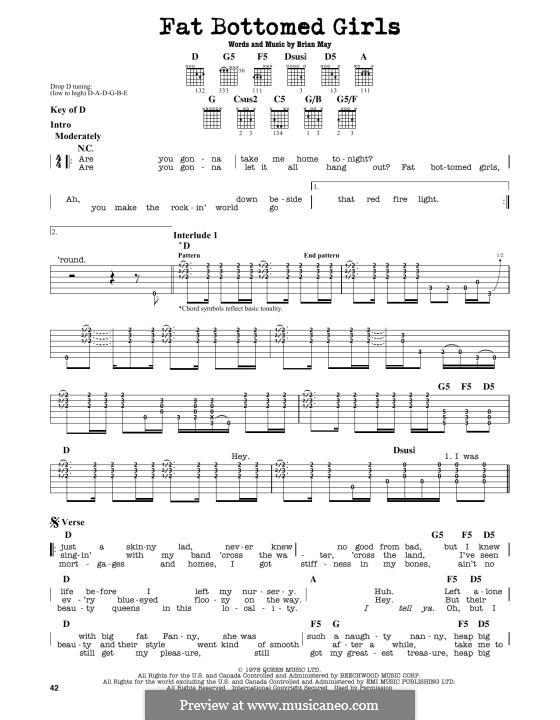 Fat Bottomed Girls: Para Guitarra by Brian May