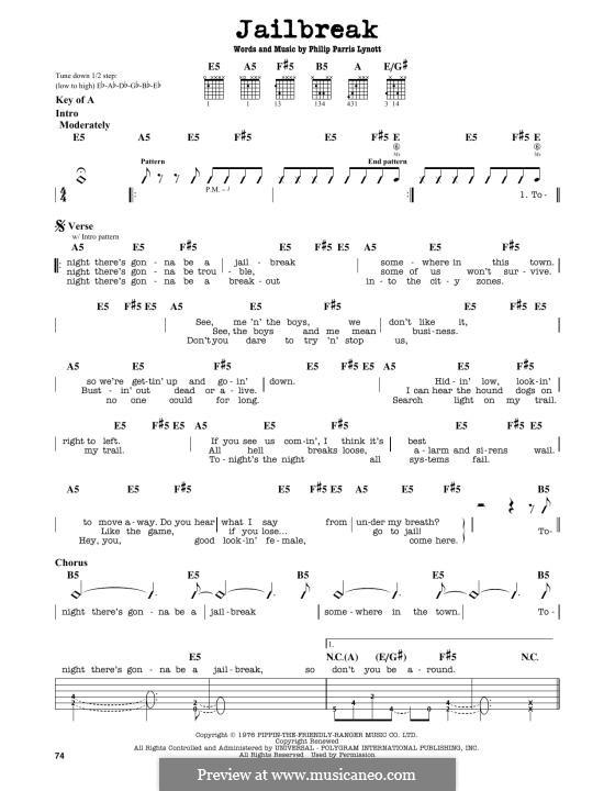Jailbreak (Thin Lizzy): Para Guitarra by Phil Lynott