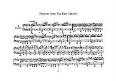Pictures from the East, Op.66: arranjos para pianos de quatro mãos - partes by Robert Schumann