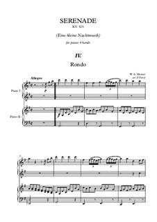 Rondo: para piano de quadro mãos by Wolfgang Amadeus Mozart