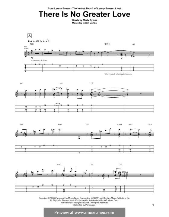 There Is No Greater Love: Para Guitarra by Marty Symes