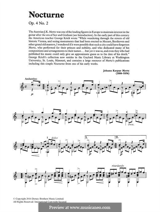 Nocturne: Para Guitarra by Johann Kaspar Mertz