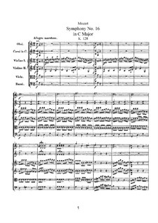 Symphony No.16 in C Major, K.128: Symphony No.16 in C Major by Wolfgang Amadeus Mozart