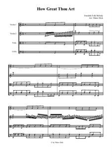 How Great Though Art: para quartetos de cordas by folklore