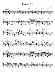 Blues in 'F': Blues in 'F' by Alexander Hashaba