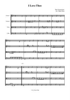 I Love Thee: para quartetos de cordas by Unknown (works before 1850)