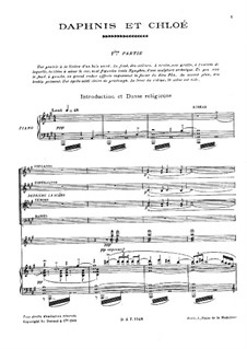 Daphnis et Chloé, M.57: For voices, choir and piano by Maurice Ravel
