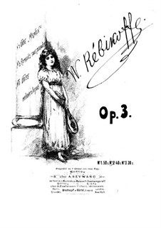 Three Pieces, Op.3: No.2 Romance without Words by Vladimir Ivanovich Rebikov