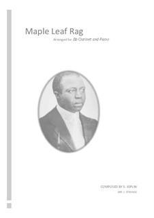 Maple Leaf Rag: para clarinete e piano by Scott Joplin
