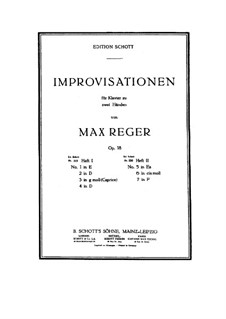 Improvisations for Piano, Op.18: Improvisations No.5-7 by Max Reger