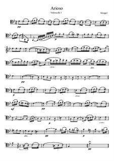 The Suite for Two Cellos: Arioso, for four cellos by Julius Klengel