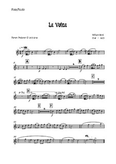 La Volta: For wind quintet - all parts by William Byrd