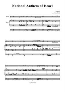Hatikvah (With Hope): para violino e orgão by folklore