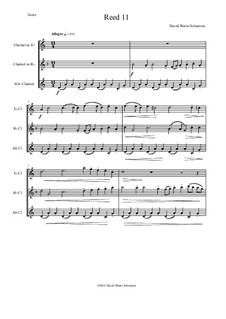 Reed 11: For E flat, B flat and alto clarinets by David W Solomons