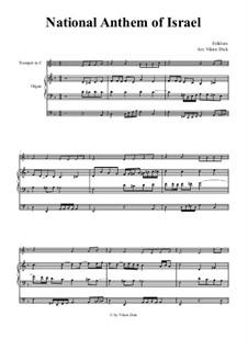 Hatikvah (With Hope): Para trompete em C e órgão by folklore