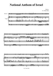 Hatikvah (With Hope): Para fagote e órgão by folklore