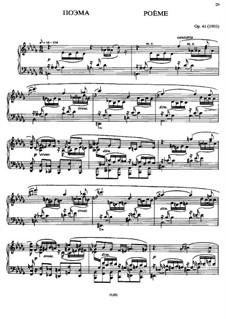 Poème, Op.41: Para Piano by Alexander Scriabin