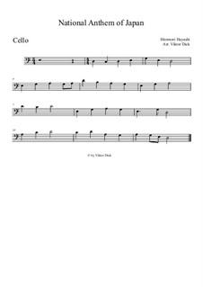 Kimigayo (Japanese National Anthem): para violoncelo by Hiromori Hayashi
