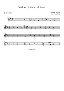 Kimigayo (Japanese National Anthem): para gravar by Hiromori Hayashi