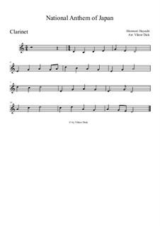 Kimigayo (Japanese National Anthem): para clarinete by Hiromori Hayashi